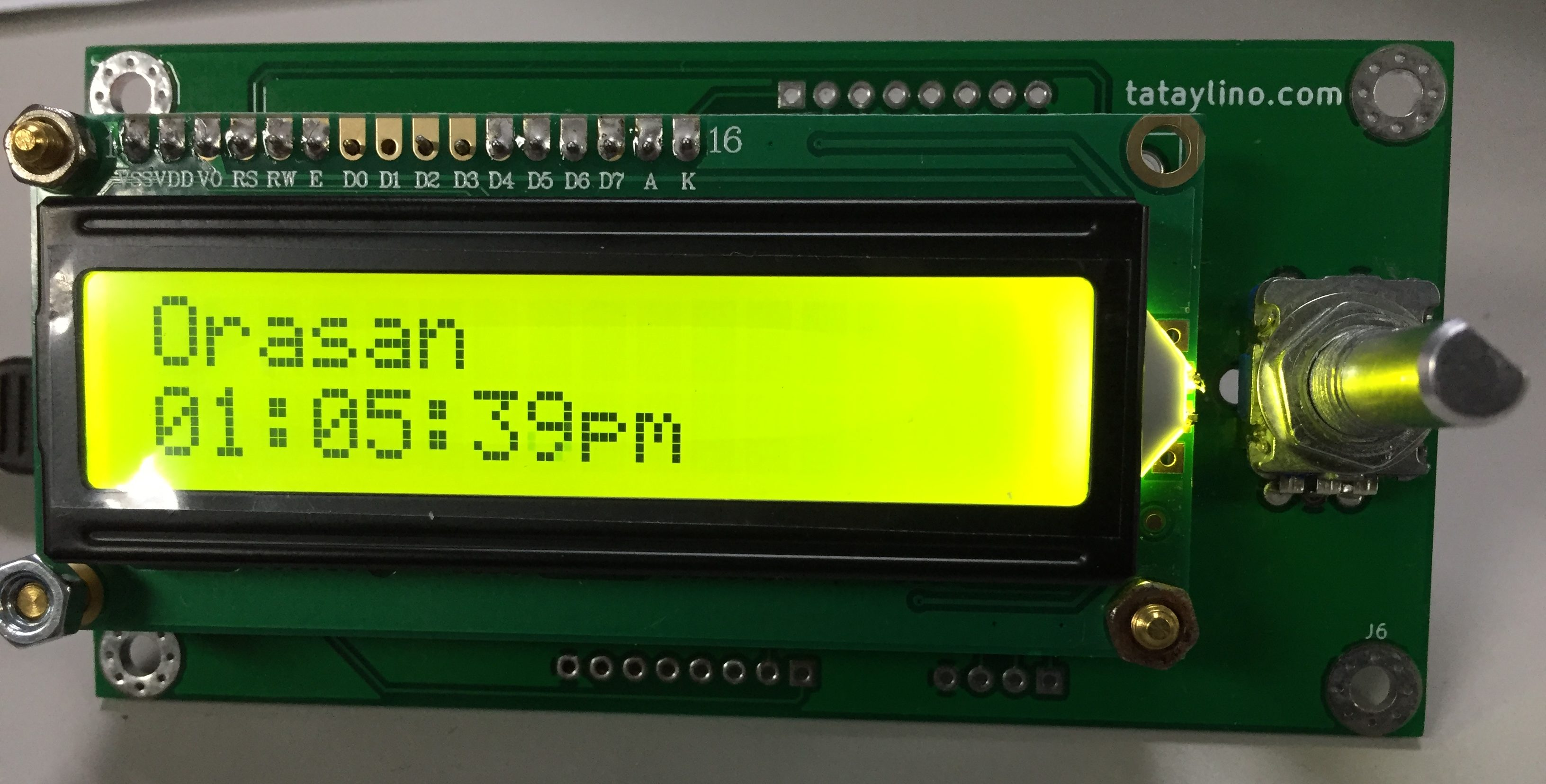 Arduino Clock with 16×2 LCD and Rotary Encoder without RTC