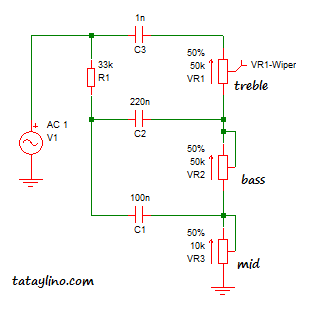 Tone Control Circuits for guitar effects – tataylino.com